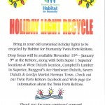 Holiday Light Recycling Flyer